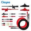 Cleqee P1600C Тестовые провода для мультиметра Тест-Комплект для автомобильных тестовых зондов мультиметр зонд пирсинг Тест Крюк крокодил