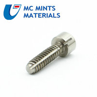 24/50 pcs 6# 32x1/2 US Units Imperial Units Titanium Bolt Ti Bolts Ti Color Grade 5 Column Head Titanium Screw Ti Fastener