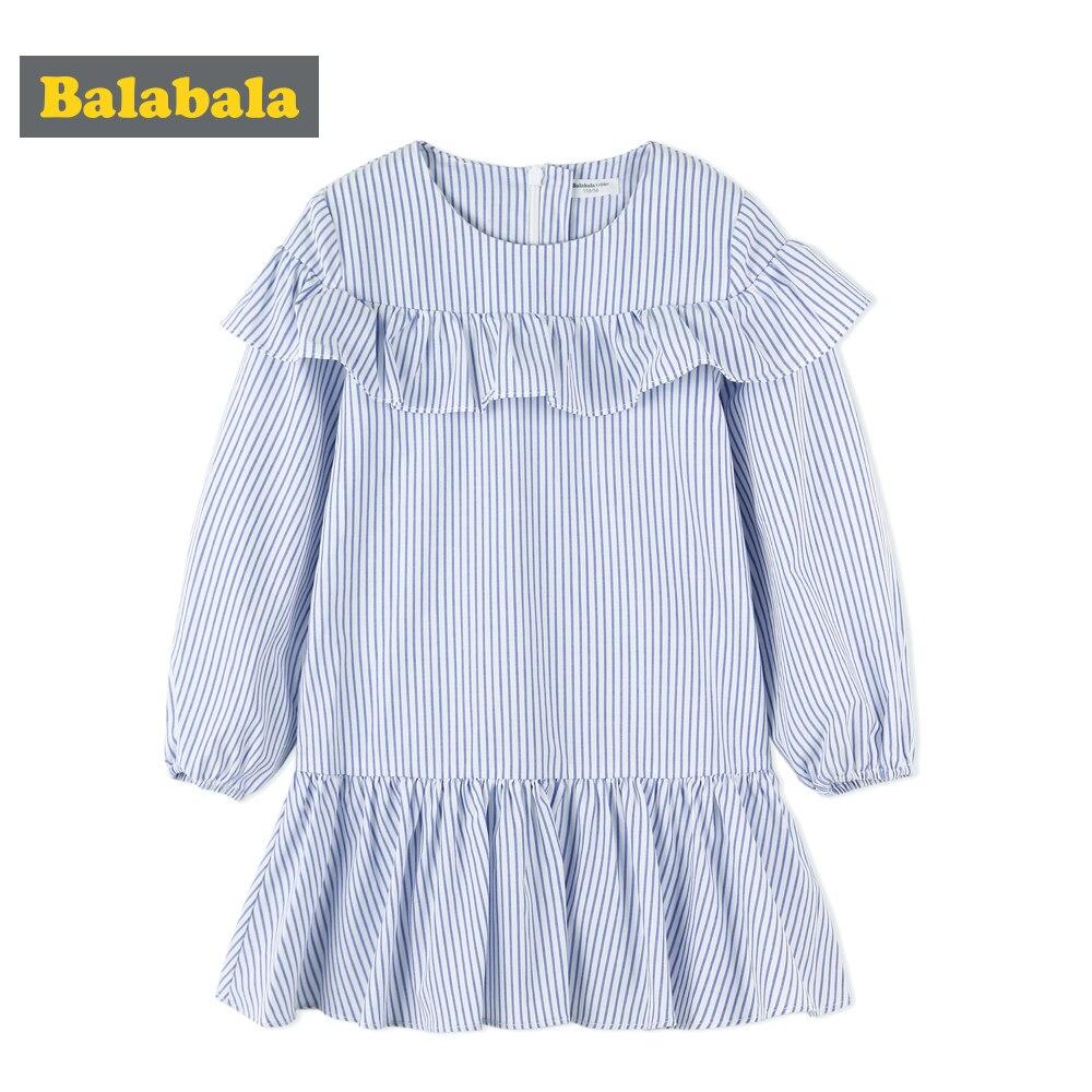 Balabala enfant en bas âge filles robe de princesse avec des rayures bleues enfants vêtements costume enfants fille genou longueur robe fête