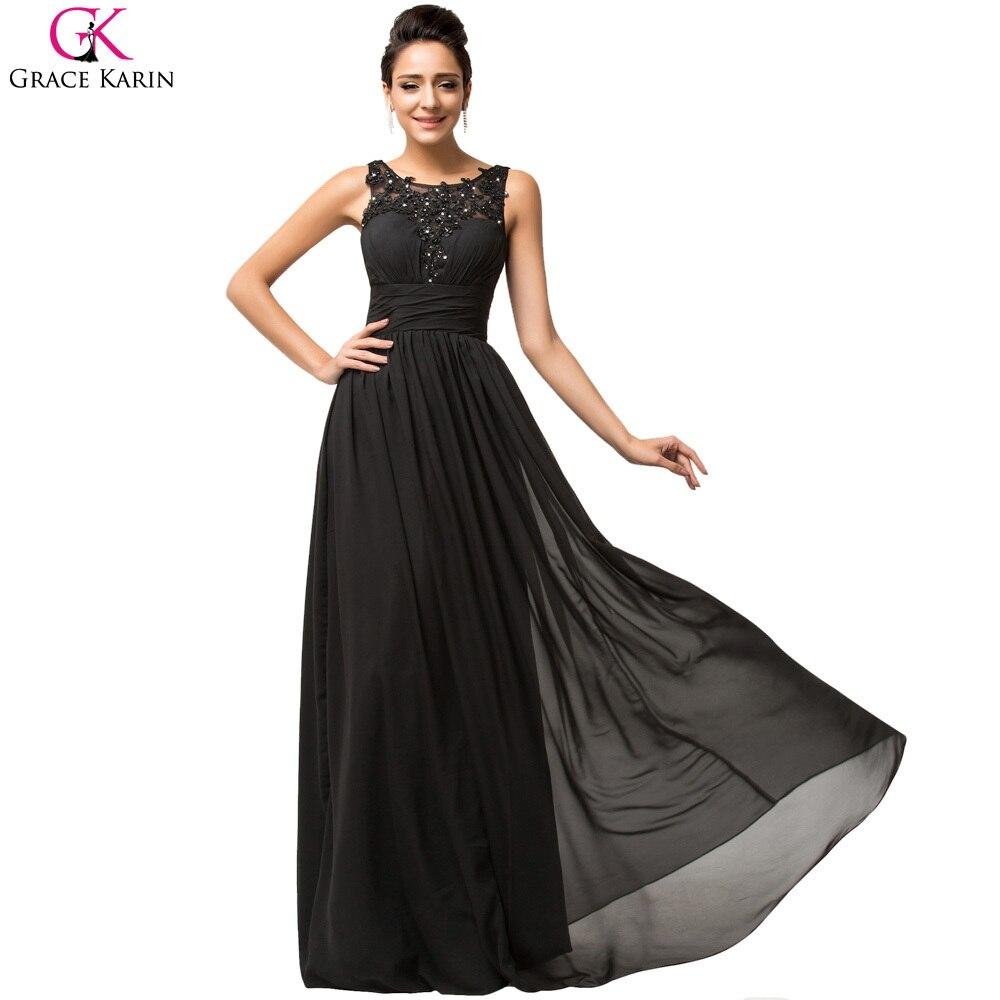Grace Karin Cheap Black Evening Dresses Long Mother of the Bride ...