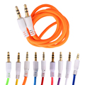 FW1S 3.5mm Jack AUX Auxiliary Cord Male to Male Flat Noodle Record Stereo Audio Cable For Device With 3.5mm Audio Port