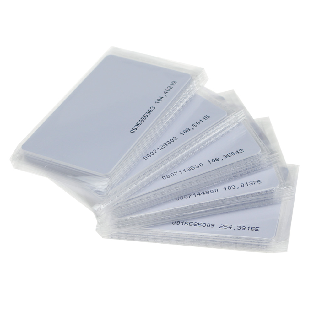 125khz em4100 door entry access blank white proximity rfid clamshell thick card thickness 1 9mm pack of 10 50pcs 125KHz RFID TK4100 blank card ID EM smart card Proximity access card for entry control system with unique number on it
