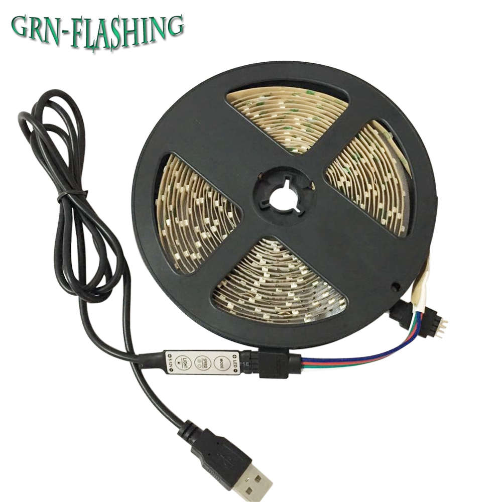 3528 SMD 50CM 1M 2M 3M DC 5V Napájecí zdroj USB RGB LED Strip svítilna Páska pro TV Pozadí Dekorativní osvětlení Stříkač Lantern