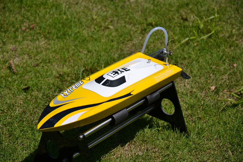M455 PNP Electric Racing RC Boat Model with ESC/Brushless Motor/Water Cooling Sys/Propeller Yellow h625 pnp spike fiber glass electric racing speed boat deep vee rc boat w 3350kv brushless motor 90a esc servo green