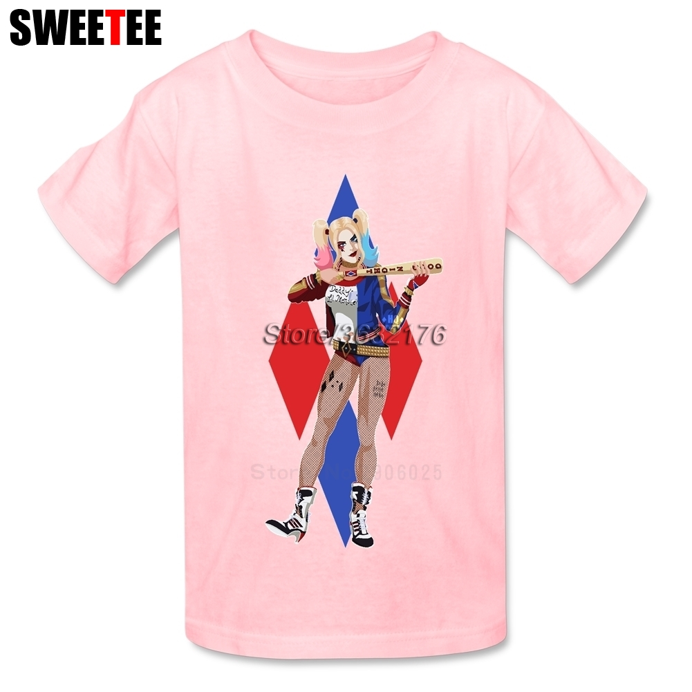 Suicide Squad Boy Girl T Shirt Baby Infant Cotton Round Neck Kid Tshirt childrens Tees 2018 Harley Quinn T-shirt For Toddler