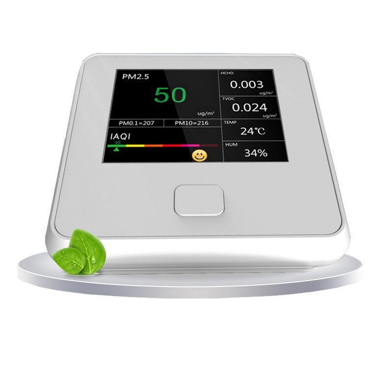 Measurement & Analysis Instruments Multifunctional 5-in-1 Indoor Pm2.5 Hcho Tvoc Detector Usb Charging 6 Megapixel Led Screen Air Monitor