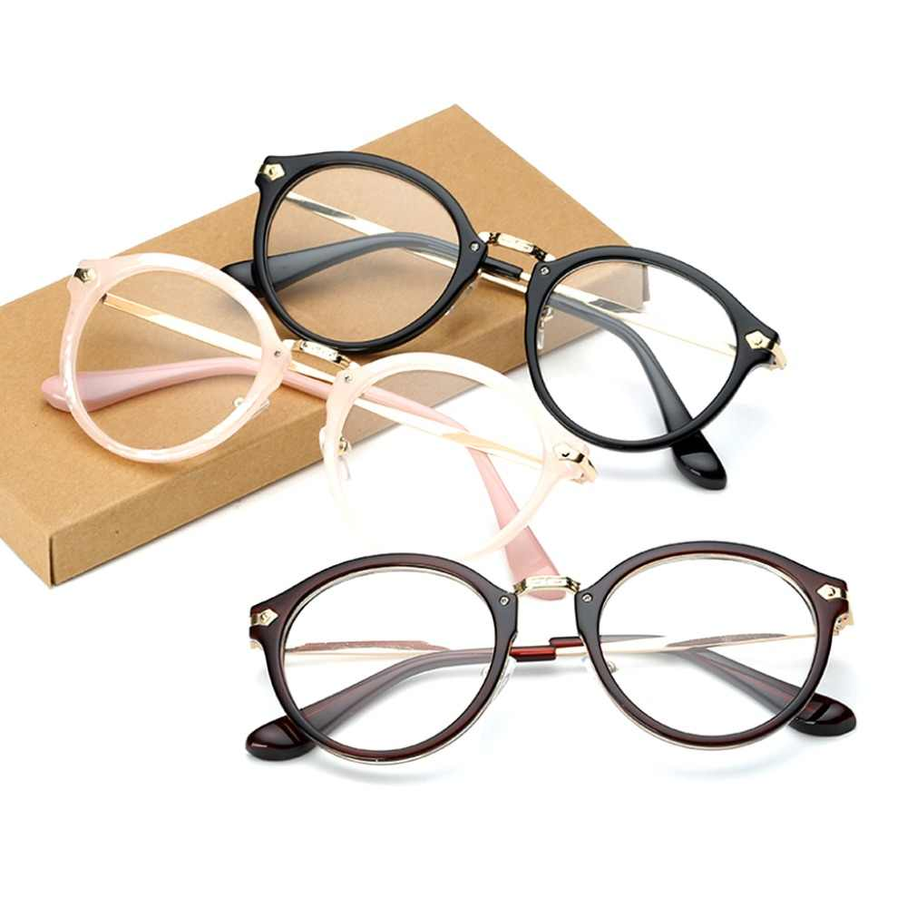 7a24e42c2330 Retro Vintage Men Women Eyeglass Round Frame Clear Full Rim Spectacles Eyewear  Optical Computer Eyewear Five