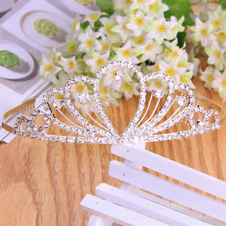 Wedding Crystal Tiara Crown Queen Women Bridal Hair Jewelry Ornaments Bride Accessories Diadem Mariage Headpiece Headband