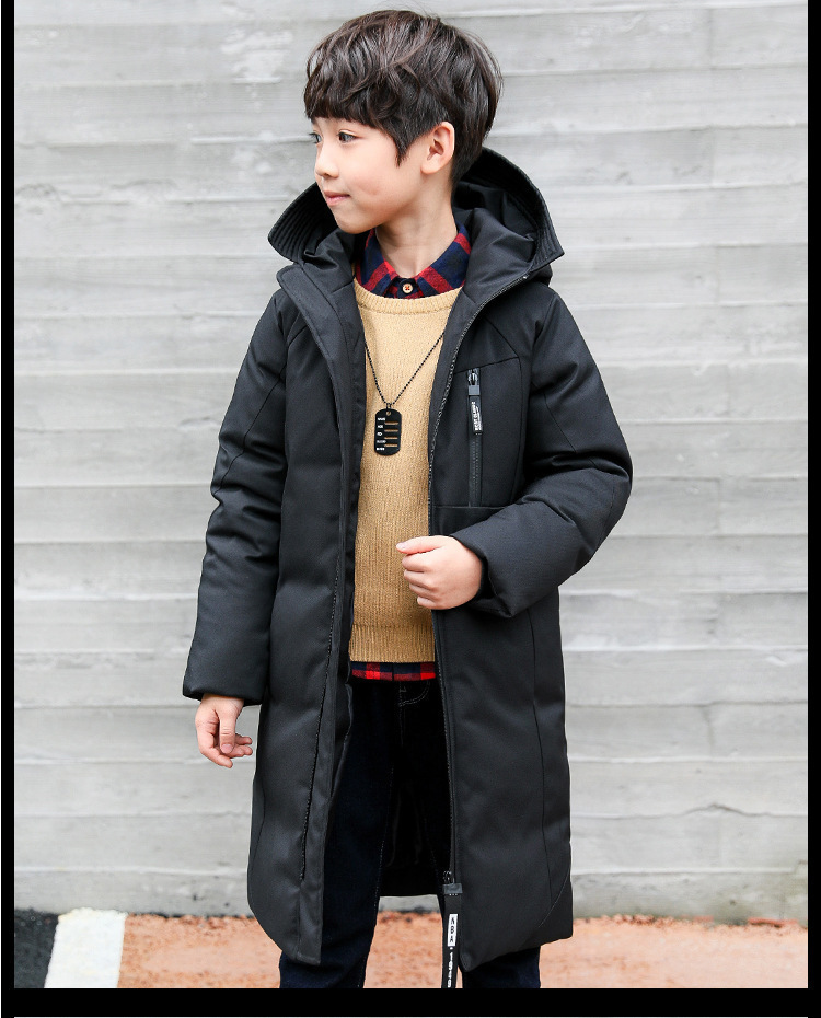-30 degree children clothing 19 boy clothes warm winter down cotton jacket Hooded coat waterproof thicken outerwear kids parka 6