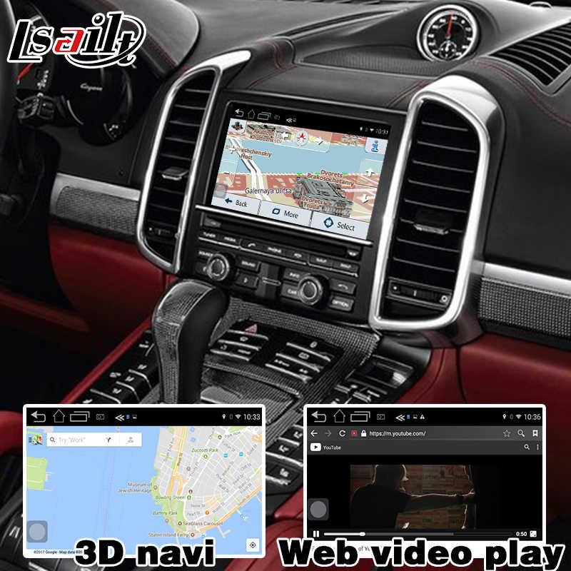 Android 6 0 GPS navigation box for Porsche Cayenne PCM 3 1 optional Carplay  google play youtube waze google map video interface