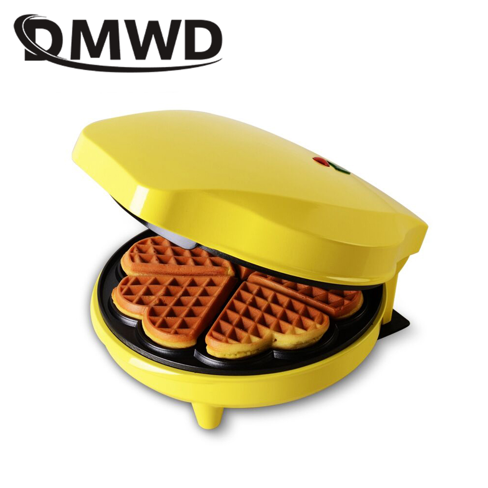 DMWD Electric Egg Waffle Maker Mini Multifunction Muffin Baking Machine Iron Nonstick Biscuits Cake Oven Breakfast Bakeware EU dmwd mini toaster electric oven multifunction timer making biscuits bread cake pizza cookies baking machine 12l liter 900w eu us