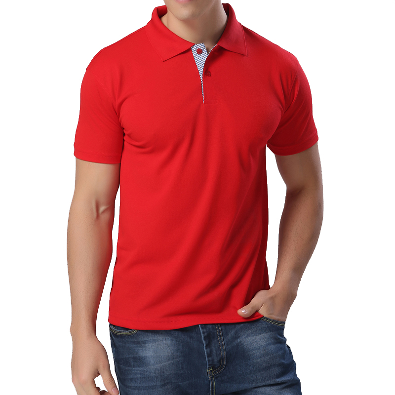 New 2016 men 39 s fashion brand polo shirt men solid business for Business casual polo shirt