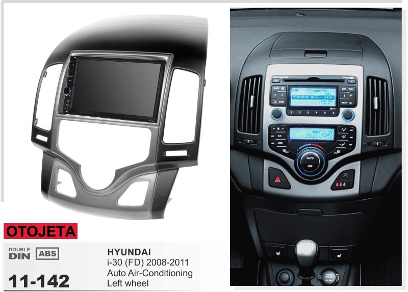 Navirider stereo Bluetooth GPS android 9.1 multimídia de carro para Hyundai I30 Auto AC 2008-2011 rádio do carro de Navegação + quadro + camera