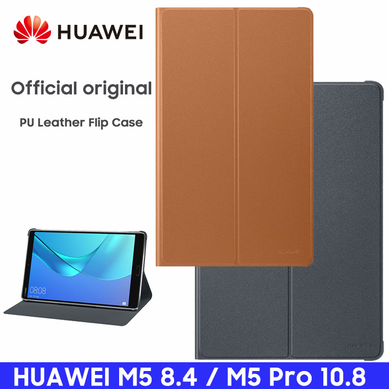 HUAWEI M5 Pro Case Official Original Smart View HUAWEI Mediapad M5 Cover Kickstand Flip Leather M5 Case Tablet Cover 8.4 10.8(China)