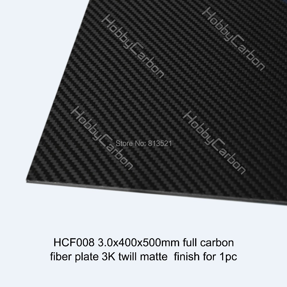 HCF008 Free shipping 3.0X400X500mm Carbon fiber plate High Composite Material  carbon fiber shee for FPV  Manufacture in China 1sheet matte surface 3k 100% carbon fiber plate sheet 2mm thickness