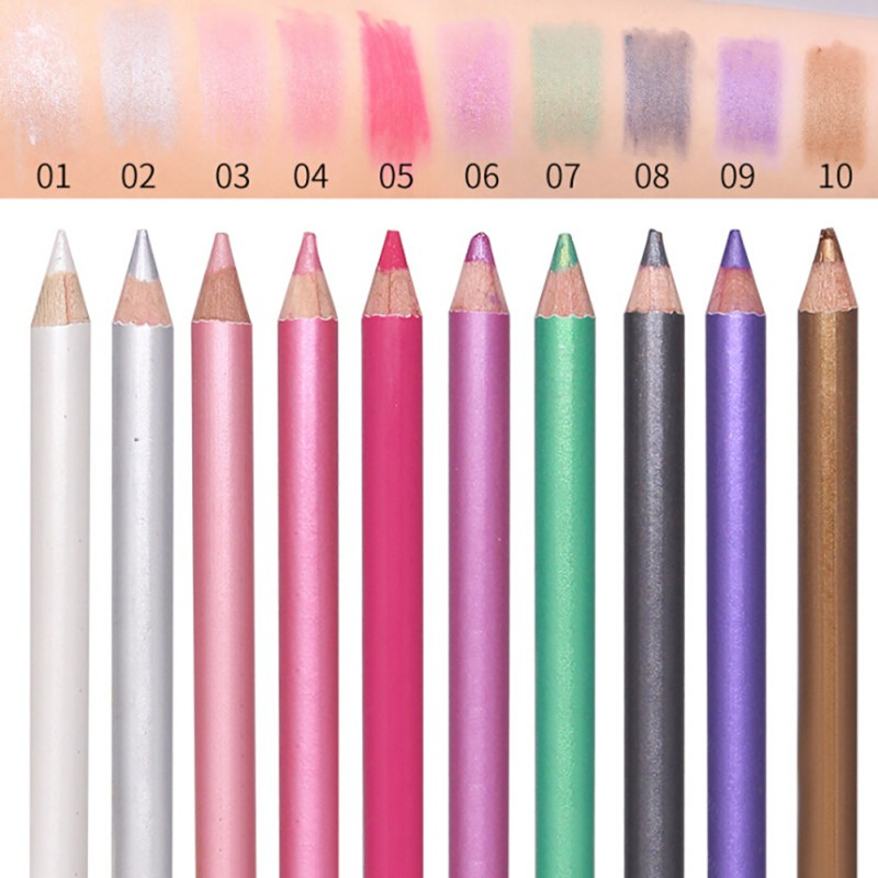 1PC Multi-functional Waterproof Eyeliner Pencils Makeup Natural Eyeshadow Pen Long Lasting Gel Pigment Colorful Eye Liner