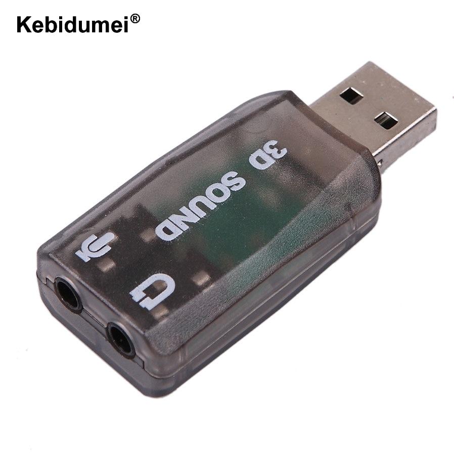 kebidumei wholesale usb sound card usb audio 5 1 external adapter mic speaker audio interface. Black Bedroom Furniture Sets. Home Design Ideas