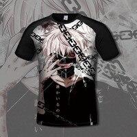 2016 Tokyo Ghoul 3d T Shirt Men Summer Fashion 3D Printed Batman Superhero Anime T Shirt