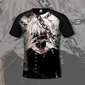 2017 tokyo ghoul 3d t shirt Men Summer Fashion 3D Printed Batman Superhero anime t-shirt Casual Short Sleeve tee shirt homme