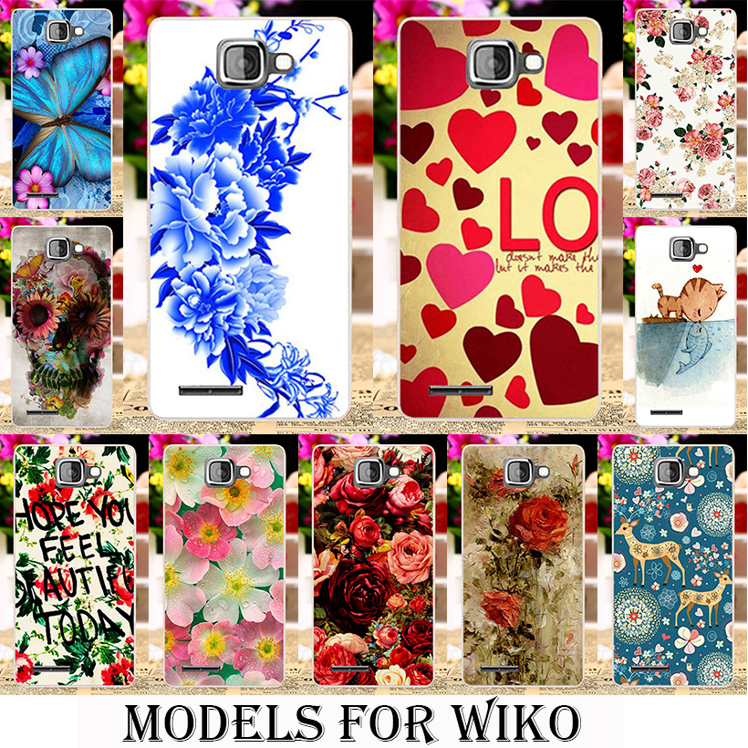 plastic Silicone Phone Cases for Wiko Rainbow Jam 3G Pulp 4G Lenny 2 3 rainbow Explay Fresh Wiko S-Kool/Robby Flowers Background