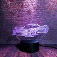 Luminous 3D Nightlight Visual Illusion LED 7 Colors Changing Light Flashing Sports