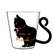 Cat Kitty Glass Mug Cup