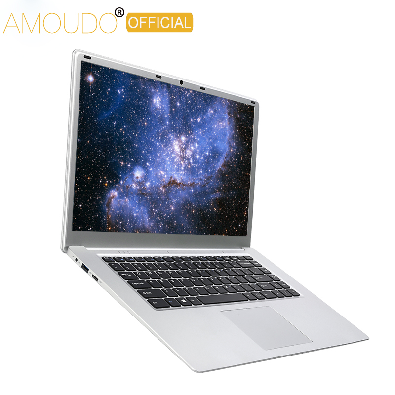 AMOUDO 15.6inch 8GB RAM 500GB/1TB HDD Intel Celeron J3455 Quad Core CPU Windows 10 System Notebook Computer Laptop