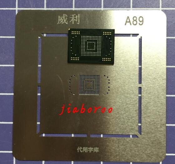1 paare/los 1 stücke Für SAMSUNG Galaxy Note 10,1 N8000 16 GB eMMC speicher flash-NAND mit firmware + 1 stücke BGA reballing reball schablone