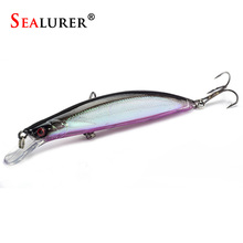 SEALURER  Minnow Fishing Lure 11cm 12.7g with 2 Hooks Fish Wobbler Tackle Crankbait Artificial Japan Hard Bait Swimbait