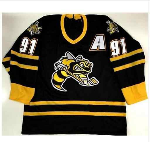Rare Vintage SARNIA STING  91 STEVEN STAMKOS Hockey Jersey Embroidery  Stitched Customize any number and 25ff2de8c