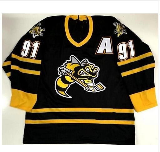 online store 4cbc2 fb7da Rare Vintage SARNIA STING #91 STEVEN STAMKOS Hockey Jersey Embroidery  Stitched Customize any number and name Jersey