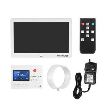 Andoer Photo Frame Digital Clock Alarm Clock Calendar & Photo  10 Inch 1024*600 Ips With 2.4g Ultra-sensitive Remote Control