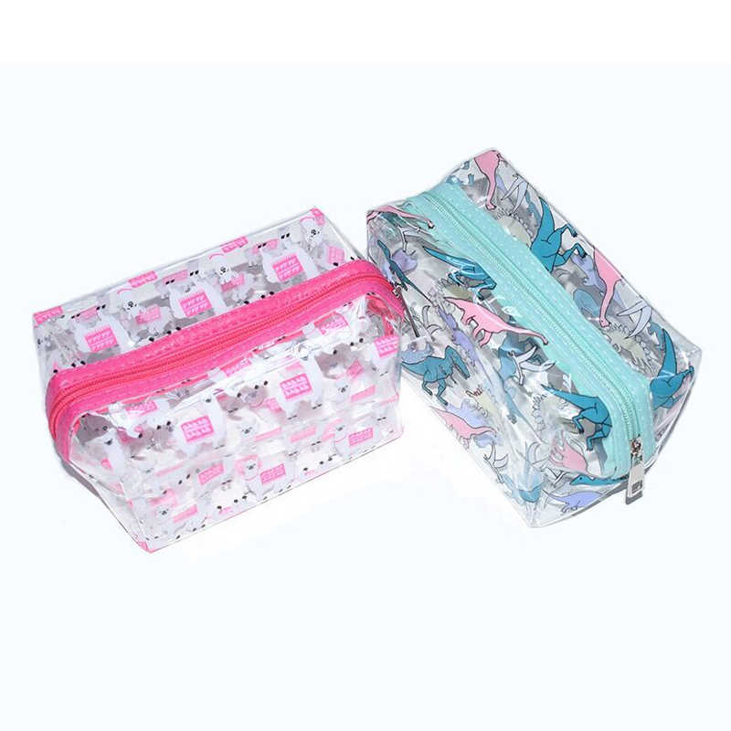 ... Unicorns Dinosaur PVC Cosmetic case Girl Travel Make up Transparent  jelly Organizer Case Bentoy Waterproof Bag ... 882ccc80bf20
