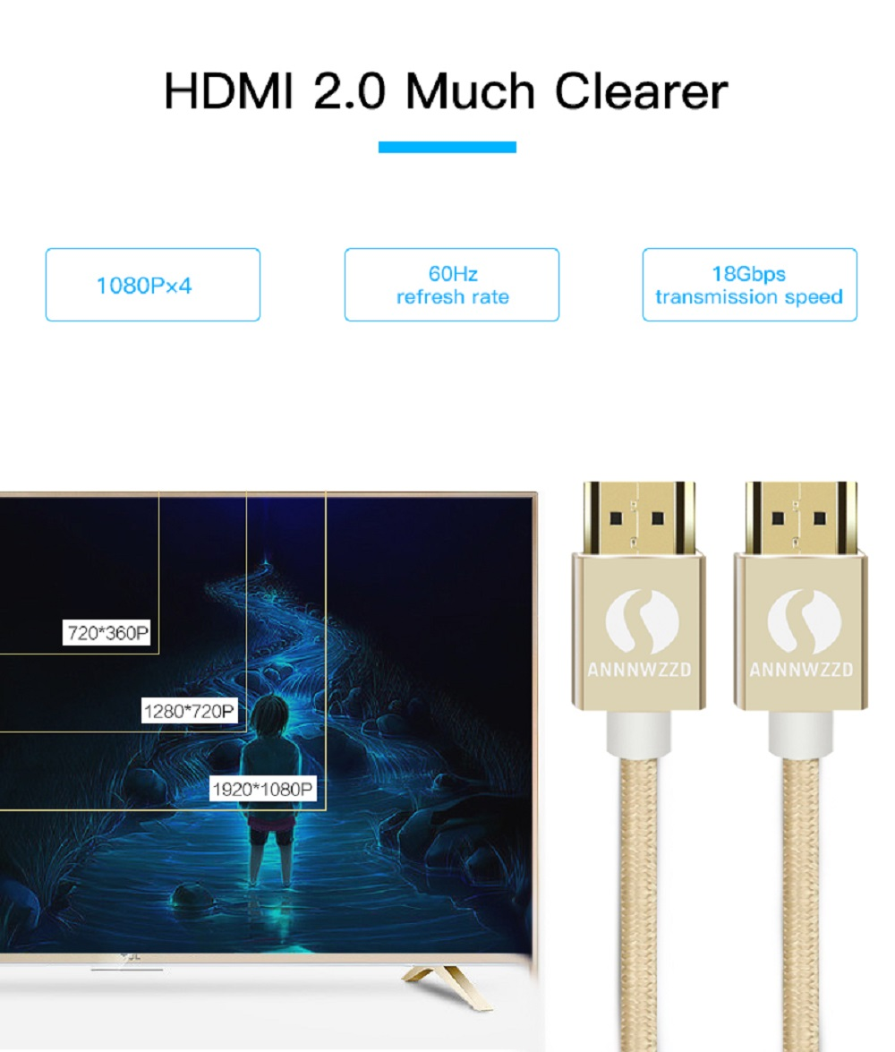 HDMI Cable 3D 4K 1080P HDMI to HDMI 5m 10m 3m 2m 1m 3D 2.0 for Projector LCD TV PS3 Laptop Computer Cable HDMI