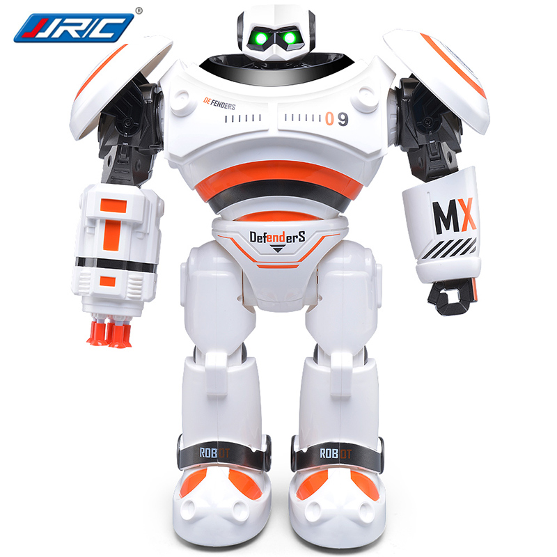 JJRC R1 RC Robot Walking Dancing Defenders Infrared Control Robot RTR Programmable Movement Missile Shooting Sliding  Mode Toys r1 intelligent rc robot programmable walking dancing combat defenders armor battle robot remote control toys for child gifts