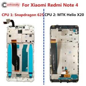 ЖК-дисплей и тачскрин с рамкой для Xiaomi Redmi Note 4, сменный дигитайзер в сборе для Xiaomi Redmi Note 4 Note 4