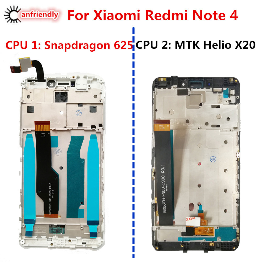For Xiaomi Redmi Note 4 LCD Display+Touch Screen With Frame Replacement Digitizer Assembly For Xiaomi Redmi Note4 Note 4 display