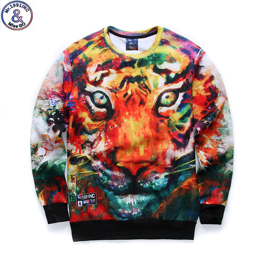 12-18years big kids brand sweatshirt boys youth fashion 3D Multicolor tiger printed hoodies jogger sportwear teens unisex W21