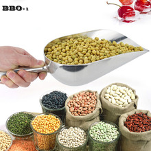 New 1PC Kitchen Utensils Flours Shovel Stainless Steel Food Shovel Bar Tool Ice Shovel Kitchen Tool Tea Rice Shovel