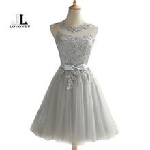 26083031af LOVONEY CH604 krótki suknie balowe 2019 Sexy Backless Lace Up suknia  wieczorowa suknia kobiety sukienki na