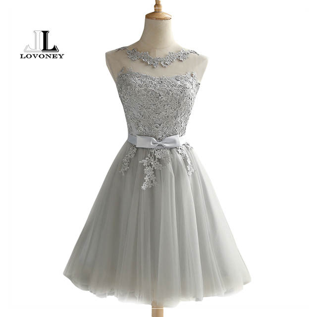 LOVONEY CH604 Short Prom Dresses 2019 Sexy Backless Lace Up Prom Gown  Formal Dress Women Occasion f3a7b9af8e66