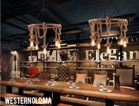 Nordic Rustic Vintage Industrial Lighting Edison Pendant Light Fixtures With 6 Lights Hemp Rope Loft Lamp Hanglamp Lamparas