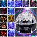 LED Кристалл Этап Магический Шар света RGB Лампа 21-Modes DMX дискотека DJ Партии Эффект Огни Sound Control этап Проектор свет