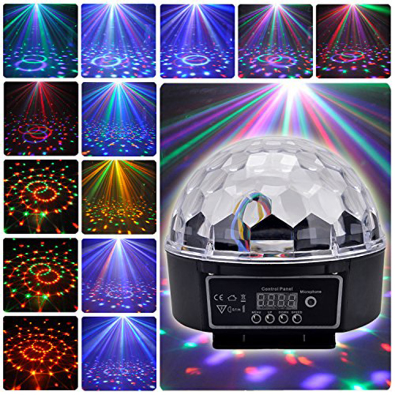 LED Crystal Stage Magic Ball light RGB Lamp 21-Modes DMX Disco DJ Light Party Effect Lights Sound Control stage Projector light xl 10 voice remote control 24w 6 x led rgb crystal ball disco dj stage light black ac 90 270v