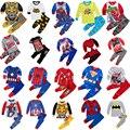 Crianças pijamas de algodão vingador aliança homem-aranha batman superman define pijamas bebê meninos meninas dos desenhos animados pijamas roupa de dormir