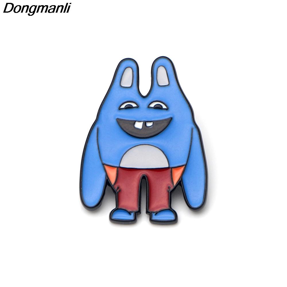 P2452 Dongmanli 20pcs/lot wholesale Broad City Bingo Bronson Hard Enamel Pins Jewelry Art Gift collar pin lapel badge jewelry-in Brooches from Jewelry & Accessories    1