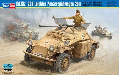 Hobby Boss #82442 1/35 SDKFZ 222 Leichter 2cm Panzerspahwagen Model Kit NEW Hobbyboss