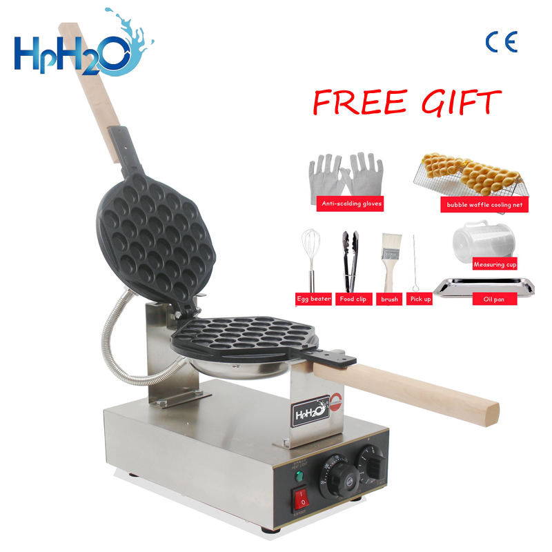 Comercial Elétrica 110 V/220 V Não-stick pan máquina de waffle Eggettes egg bubble puff bolo fabricante de ferro bolha máquina de bolo de ovo forno