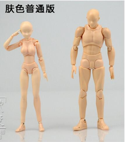 Us 31 76 9 Off Skin Color Sketch Drawing Cartoon Mannequin 15cm Male 13cm Female Model Plastic Manikin Model With Stand Free Shipping In Medical