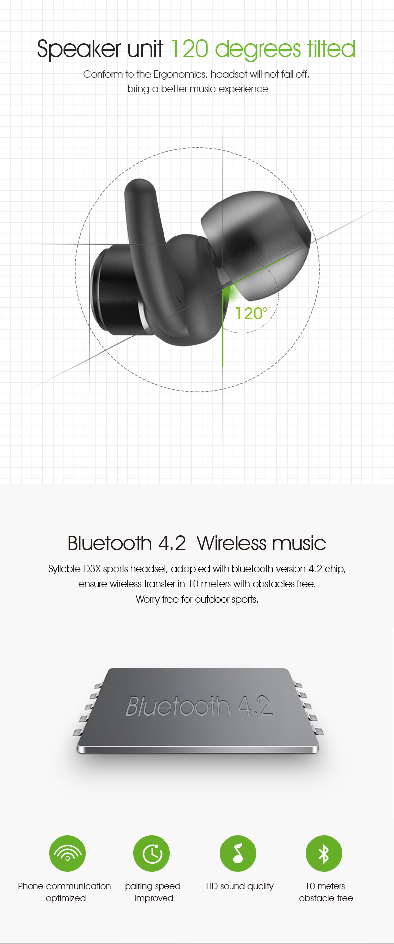 Syllable D3X Bluetooth Earphone Sweatproof Earphone with Mic for iPhone 8 Magnetic Bluetooth Headset Auriculares Fone De Ouvido